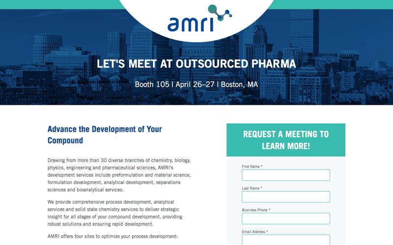 Meet with us at Outsourced Pharma | AMRI