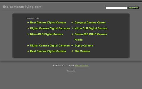 Screenshot of Home Page the-cameras-lying.com - The-Cameras-Lying.com - captured Aug. 28, 2016