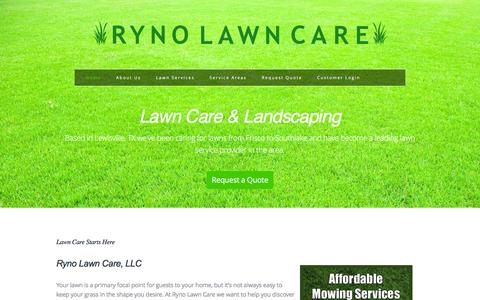 Screenshot of Home Page rynolawncare.com - Lawn Care & Landscaping | Ryno Lawn Care, LLC - captured Feb. 22, 2016