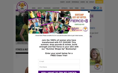 Screenshot of Signup Page fitchicks.ca - FIT CHICKS Fitness Bootcamps   Toronto, Ottawa, Calgary, Vancouver - captured Aug. 3, 2016