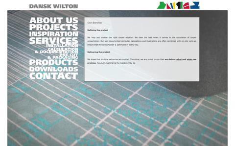 Screenshot of Services Page danskwilton.dk - Dansk Wilton A/S Services - captured Feb. 8, 2016