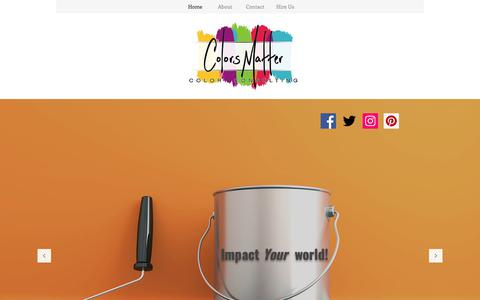 Screenshot of Home Page colorsmatter.com - Color Consulting - captured Dec. 8, 2018