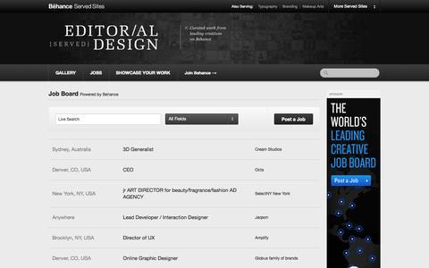 Screenshot of Jobs Page editorialdesignserved.co - Editorial Design Served :: Job Board - captured Nov. 3, 2014
