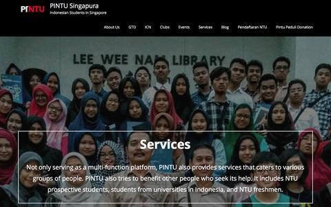 Screenshot of Services Page pintusingapura.org - Services – PINTU Singapura - captured May 13, 2017