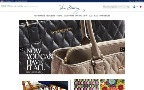 Screenshot of Home Page verabradley.com - Bags, Handbags, Purses, Backpacks | Vera Bradley - captured Sept. 18, 2014