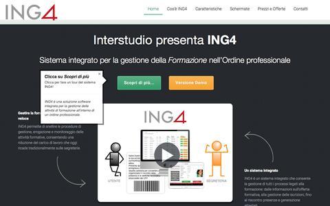 Screenshot of Home Page ing4.it - ING4 - Sistema integrato per la gestione della formazione nell'Ordine professionale - captured Sept. 7, 2015