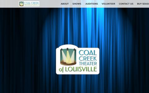 Screenshot of Home Page cctlouisville.org - Home - Coal Creek Theater of Louisville - captured Sept. 28, 2018