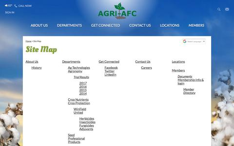 Screenshot of Site Map Page agri-afc.com - Site Map - captured Oct. 7, 2017