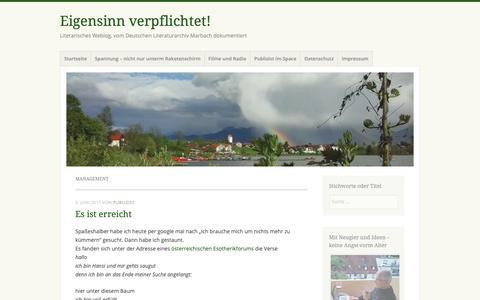 Screenshot of Team Page wordpress.com - Management – Eigensinn verpflichtet! - captured Oct. 29, 2018