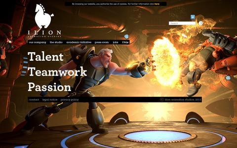 Screenshot of Home Page ilion.com captured Oct. 1, 2014