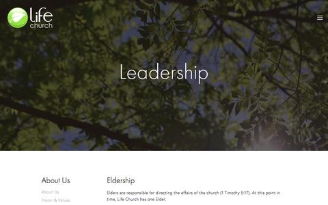 Screenshot of Team Page lifechurchhook.org - Leadership — Life Church Hook - captured May 18, 2017