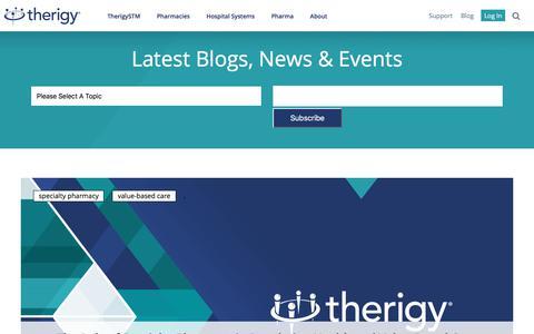 Screenshot of Blog therigy.com - Therigy Blog, News & Events - captured Jan. 27, 2018