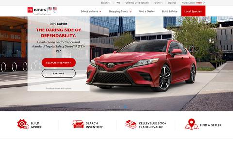 Screenshot of Home Page toyota.com - New Cars, Trucks, SUVs & Hybrids | Toyota Official Site - captured July 14, 2019