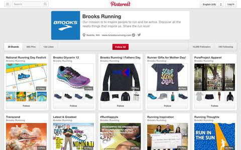 Screenshot of Pinterest Page pinterest.com - Brooks Running on Pinterest - captured Oct. 23, 2014