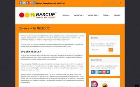 Screenshot of Jobs Page rescuefirst.com - Careers | Rescue First 24/7 Roadside Assistance - captured Nov. 5, 2014