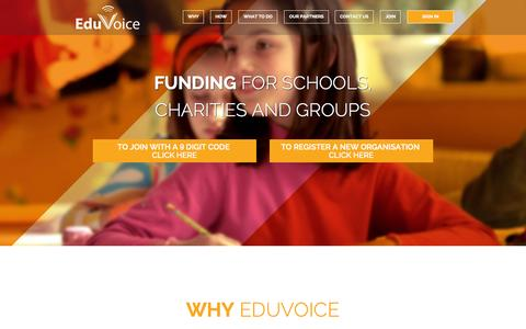 Screenshot of Signup Page Login Page eduvoice.co.uk - Home – EduVoice - captured Oct. 22, 2014