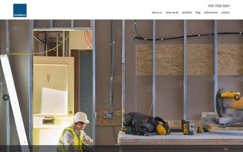 Screenshot of Home Page buildburo.co.uk - BuildBuro - captured Sept. 30, 2014