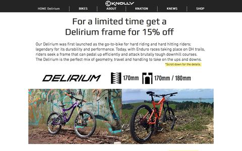 Screenshot of Home Page knollybikes.com - Knolly Bikes - Canada's premier performance full suspension bikes - captured July 12, 2018