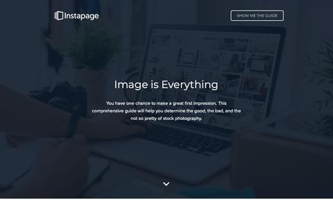 Screenshot of Landing Page instapage.com - How to Select the Best Stock Photos for Your Marketing Campaigns - captured Nov. 9, 2018