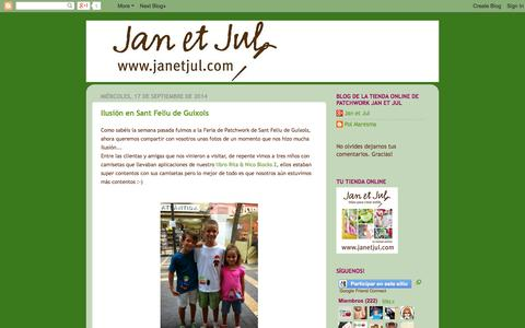 Screenshot of Blog janetjul.com - Jan et Jul, el blog. - captured Sept. 19, 2014