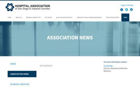 Screenshot of Press Page hasdic.org - Association News   HASDIC - captured Sept. 29, 2018