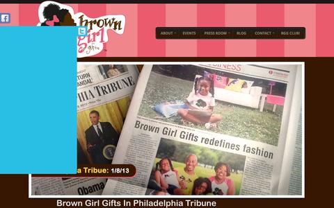 Screenshot of Home Page browngirlgifts.com - Brown Girl Gifts - captured Oct. 5, 2014