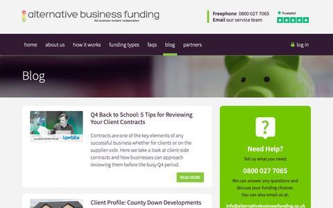 Screenshot of Blog alternativebusinessfunding.co.uk - Blog - captured Oct. 3, 2018