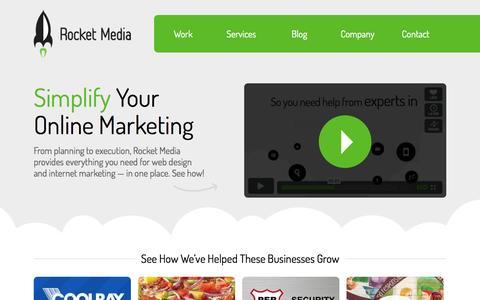 Screenshot of Home Page rocketmedia.com - Rocket Media - captured Sept. 22, 2014