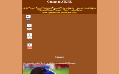 Screenshot of Contact Page atdhe.so - Contact - captured Nov. 1, 2014