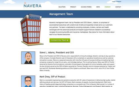 Screenshot of Team Page navera.com - Navera | Management Team - captured Jan. 20, 2016