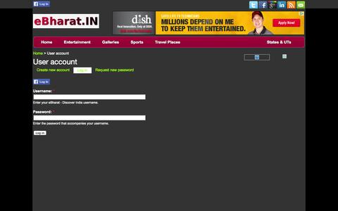 Screenshot of Login Page ebharat.in - User account | Bollywood News, Gossip, Movies, Trailers, Videos, Photos, Celebrities, TV Shows - eBharat Entertainment - captured Sept. 23, 2014