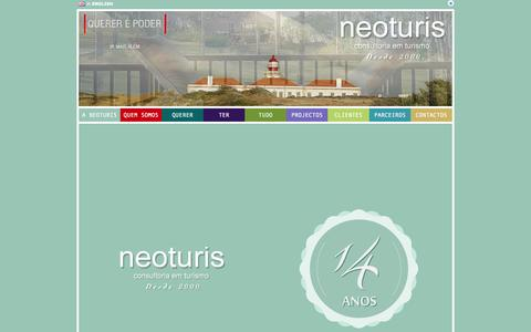 Screenshot of Home Page neoturis.com - neoturis - Consultoria em Turismo - captured Oct. 7, 2014