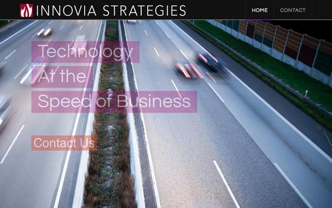 Screenshot of Home Page innoviastrategies.com - Innovia Strategies | Expertise With A Point Of View - captured Jan. 8, 2016