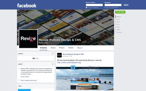 Screenshot of Facebook Page facebook.com - Revize Website Design & CMS | Facebook - captured Nov. 5, 2014