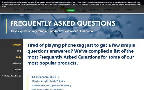 Screenshot of FAQ Page gantrade.com - FAQs   Gantrade - captured Sept. 27, 2018