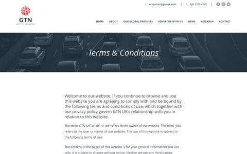 Screenshot of Terms Page gtn.uk.com - Terms & Conditions – GTN UK - captured Nov. 9, 2016