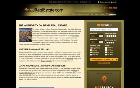 Screenshot of About Page bendrealestate.com - About Greg Broderick - captured Oct. 1, 2014