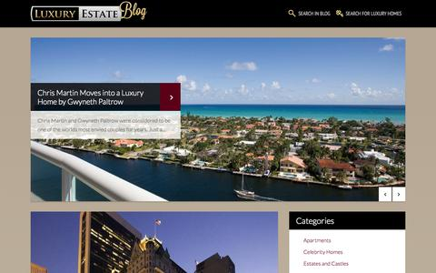 Screenshot of Blog luxuryestate.com - Luxury homes, period houses, historical buildings, exclusive real estate | LuxuryEstate.com Blog - captured Sept. 23, 2014