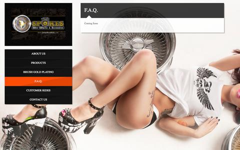 Screenshot of FAQ Page justspokeswheels.com - F.A.Q. | Just Spokes Wheels - captured Oct. 6, 2014