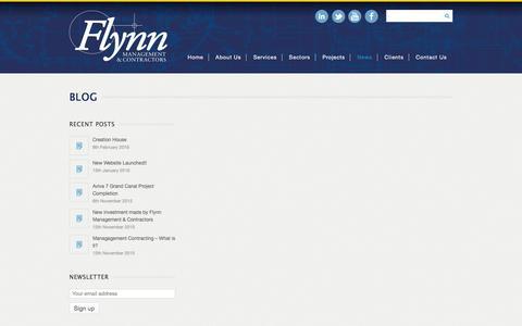 Screenshot of Blog flynnmc.com - Blog | Flynn Management & Contractors - captured Feb. 10, 2016