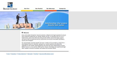 Screenshot of Home Page beckergurian.com - Becker Gurian - captured Oct. 6, 2014