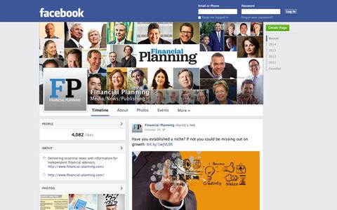 Screenshot of Facebook Page facebook.com - Financial Planning | Facebook - captured Oct. 23, 2014