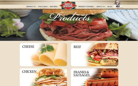 Screenshot of Products Page dietzandwatson.com - Products | Dietz & WatsonŞ - captured Jan. 7, 2016
