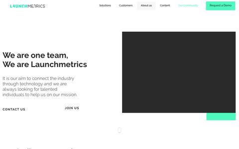 Screenshot of Team Page launchmetrics.com - TEAM | Launchmetrics - captured Feb. 14, 2019