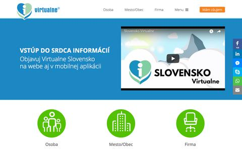 Screenshot of Home Page virtualne.sk - Virtualne - Informácie vždy po ruke - captured Sept. 22, 2018