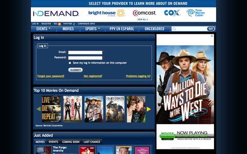 Screenshot of Login Page indemand.com - Log In | iN DEMAND - captured Oct. 28, 2014