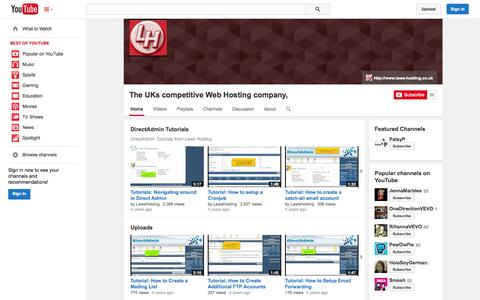 Screenshot of YouTube Page youtube.com - The UKs competitive Web Hosting company,  - YouTube - captured Oct. 27, 2014