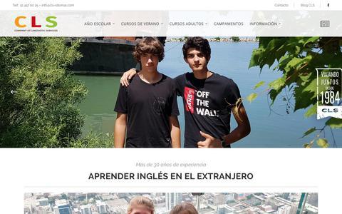 Screenshot of Home Page cls-idiomas.com - Aprender Inglés en el Extranjero | CLS Idiomas - captured Sept. 25, 2018