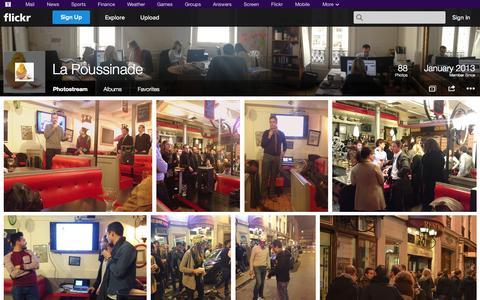 Screenshot of Flickr Page flickr.com - Flickr: La Poussinade's Photostream - captured Oct. 22, 2014
