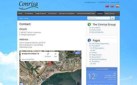 Screenshot of Contact Page conrisa.com - Contact us   Conrisa - captured Oct. 3, 2014